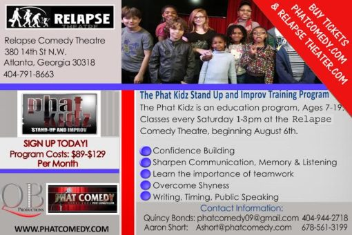 Relapse Theater PROGRAM Flyer 2016